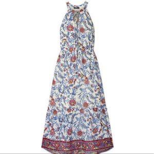 J. Crew Ruffle Trimmed Floral Print Maxi Dress